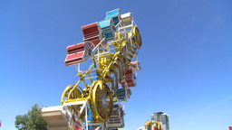 HD2008-7-3-32 midway rides Stock Video Footage