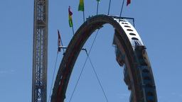 HD2008-7-3-38 midway rides Stock Video Footage