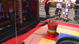 HD2008-7-3-42 midway rides ring the bell Stock Video Footage