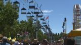 HD2008-7-3-44 Midway Rides Chairlift stock footage