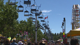 HD2008-7-3-44 midway rides chairlift Stock Video Footage