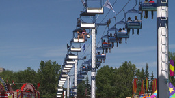 HD2008-7-3-46 midway rides chairlift Stock Video Footage