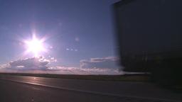HD2008-6-7-36 TN truck thru frame Stock Video Footage