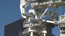 HD2008-7-8-3 const crane spin Stock Video Footage