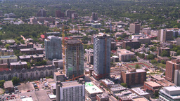 HD2008-7-8-5 aerial DT Cgy condos Stock Video Footage
