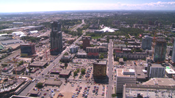 HD2008-7-8-9 aerial DT Cgy beltline Stock Video Footage