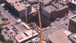 HD2008-7-8-13 TL aerial DT Cgy const cranes Footage