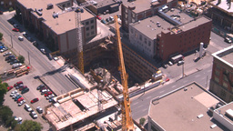 HD2008-7-8-13 TL aerial DT Cgy const cranes Stock Video Footage