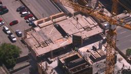 HD2008-7-8-19 aerial DT Cgy const cranes Footage
