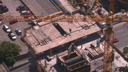 HD2008-7-8-19 aerial DT Cgy const cranes Stock Video Footage