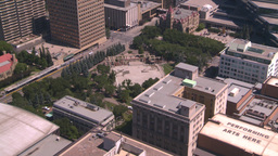 HD2008-7-8-24 aerial DT Cgy olympic plaza Stock Video Footage