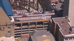 HD2008-7-8-26 aerial DT Cgy The bow ave bridge Stock Video Footage