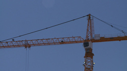HD2008-7-8-32 constr site cranes Stock Video Footage