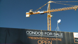 HD2008-7-9-5 crane condos for sale Stock Video Footage