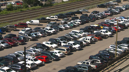 HD2008-7-9-15 full parking lot Stock Video Footage