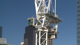 HD2008-7-9-19 const site crane Stock Video Footage