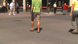 HD2008-7-9-23 TL people crossing street Stock Video Footage