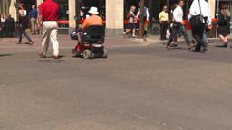 HD2008-7-9-23 TL people crossing street Stock Video Footage