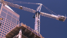HD2008-7-9-36 const site crane Stock Video Footage