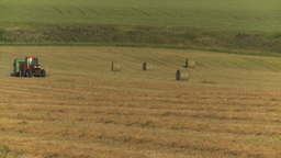 HD2008-7-14-33 tractor harvesting Stock Video Footage