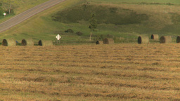 HD2008-7-14-35 tractor harvesting Stock Video Footage