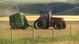 HD2008-7-14-37 tractor harvesting Stock Video Footage
