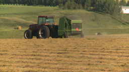 HD2008-7-14-39 tractor harvesting Stock Video Footage