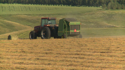 HD2008-7-14-39 tractor harvesting Footage