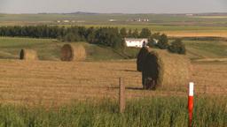 HD2008-7-14-41 hay bales Stock Video Footage