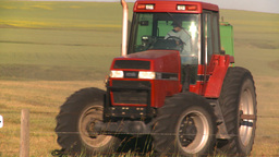 HD2008-7-14-43 tractor harvesting Stock Video Footage