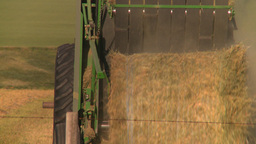 HD2008-7-14-45 tractor harvesting Stock Video Footage