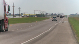 HD2008-7-15-2 transport trucks highway Stock Video Footage