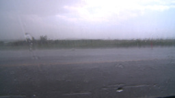 HD2008-7-15-4 hailstorm thru car window Stock Video Footage