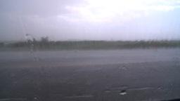 HD2008-7-15-4 hailstorm thru car window Stock Video Footage