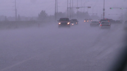 HD2008-7-15-6 hailstorm thru car window Stock Video Footage
