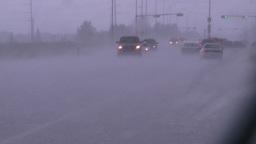 HD2008-7-15-6 hailstorm thru car window Stock Video Footage