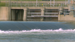 HD2008-7-15-30 weir gate Stock Video Footage
