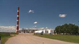 HD2008-7-15-44 gas plant Stock Video Footage