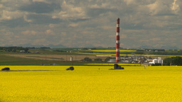 HD2008-7-15-60 canola fields gas plant Footage
