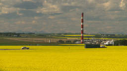 HD2008-7-15-60 canola fields gas plant Stock Video Footage