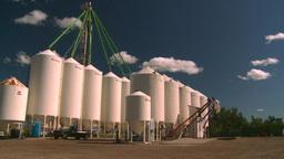HD2008-7-16-8 fertilizer storage Stock Video Footage