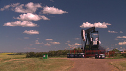 HD2008-7-16-22 pumpjack Stock Video Footage