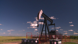 HD2008-7-16-24 pumpjack Stock Video Footage