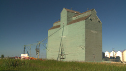 HD2008-7-16-66 old wood grain elevators Stock Video Footage