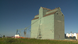 HD2008-7-16-68 old wood grain elevators Stock Video Footage