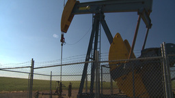HD2008-7-16-72 pumpjack Stock Video Footage