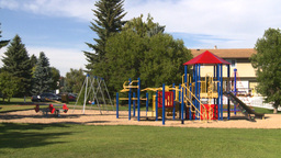 HD2008-7-17-8 empty kids playground Stock Video Footage