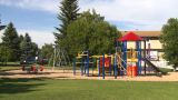 HD2008-7-17-8 Empty Kids Playground stock footage