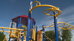 HD2008-7-17-12 empty kids playground Stock Video Footage