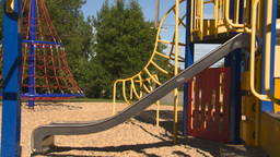 HD2008-7-17-14 empty kids playground Stock Video Footage